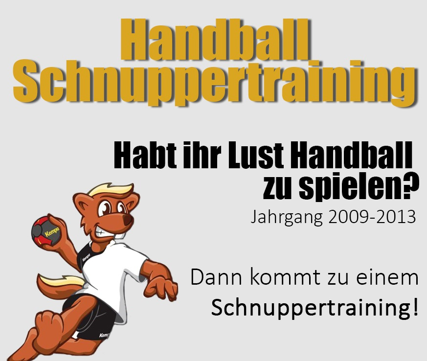 Schnuppertraining JG 2009-2013